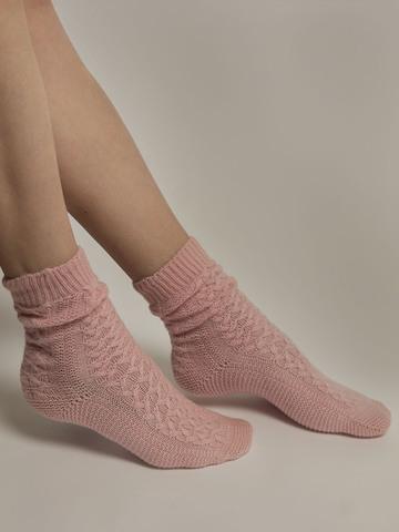 Женские носки светло-розового цвета из 100% кашемира - фото 4