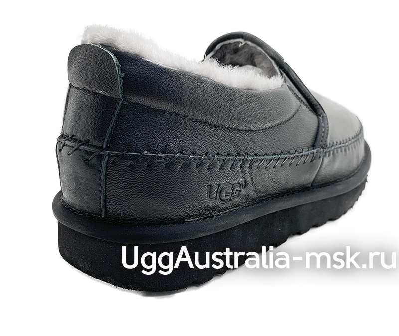 UGG MENS SLIP ON FLEX MEN BLACK LEATHER