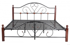"""Кровать """"FD 802"""" (решетка металлическая) 140*203см —  Rose Oak (Темная вишня) (MK-1908-RO)"""