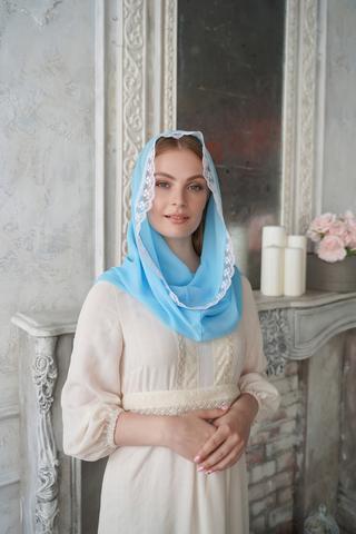 Снуд-шарф  Топаз с заколкой
