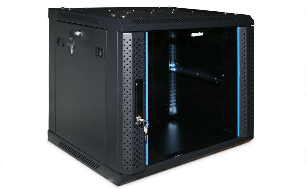 ZPAS WZ-4167-01-00-161 Шкаф настенный, 19-дюймовый (19';), серия SJK, 4U, 230x515x300, стеклянная дверь, цвет черный (RAL 9005)