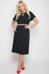 <p>Модное практичное платье продолжает традицию - создавать безупречный образ. Рукав кимоно, по талии резинка, функциональные карманы, по спинке замок. Длины:&nbsp;<span>44-108см, 46-109см, 48-110см, 50-111см.</span></p>