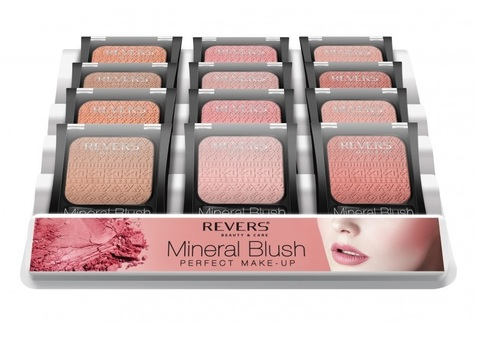 REVERS Румяна 7,5г MINERAL BLUSH Perfect make-up MIX (*12)