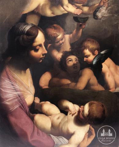Abraham JANSSENS (Attrib.) (1575-1632) The Virgin and Child with Four Angels