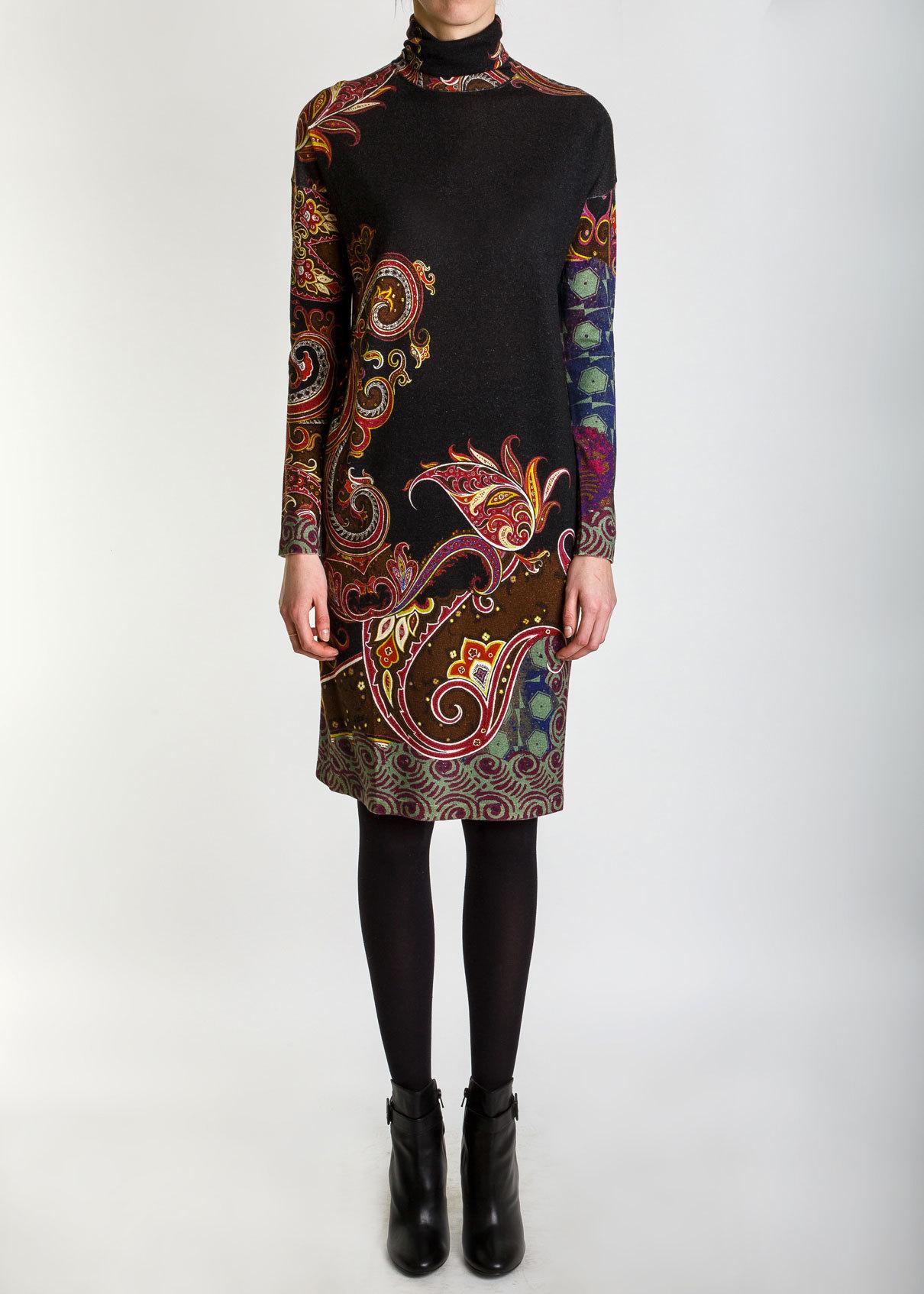 Платье из шелка и кашемира ETRO