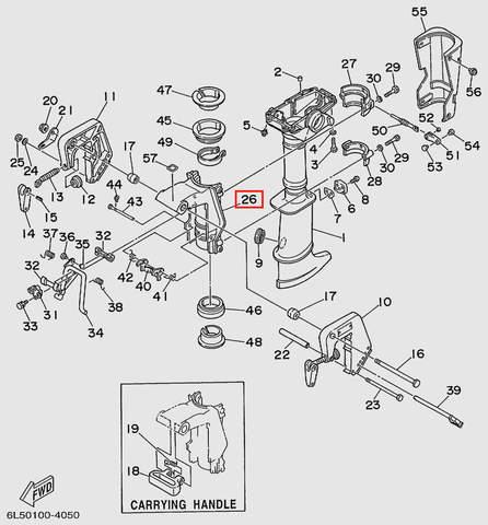 Опора кронштейна струбцины  для лодочного мотора T3 SEA-PRO (15-26)