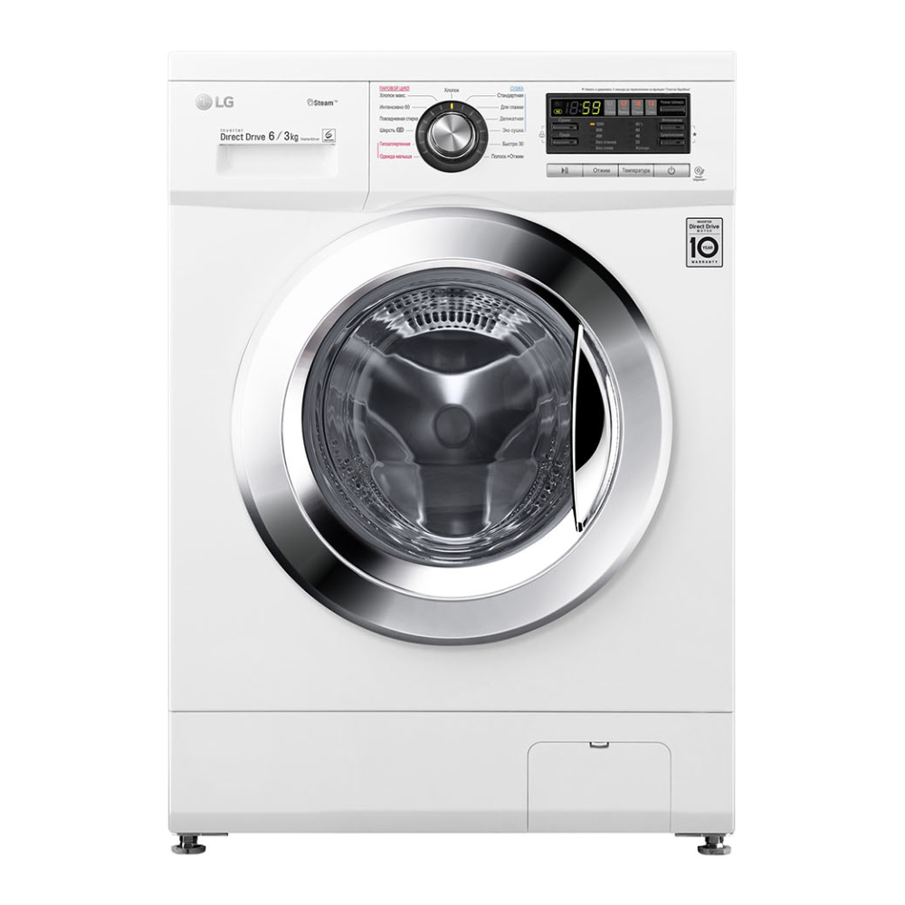 Узкая стиральная машина LG с функцией пара Steam F1296CDS3 фото