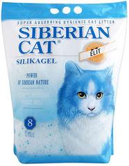 Наполнитель для кошачьего туалета, Сибирская Кошка, Элита силикагель (синие гранулы)