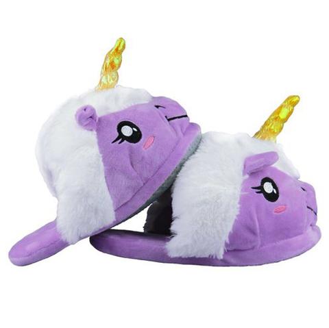 Тапочки Единорог фиолетовые