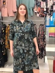 Платье L&N 1663 рубашка цветы