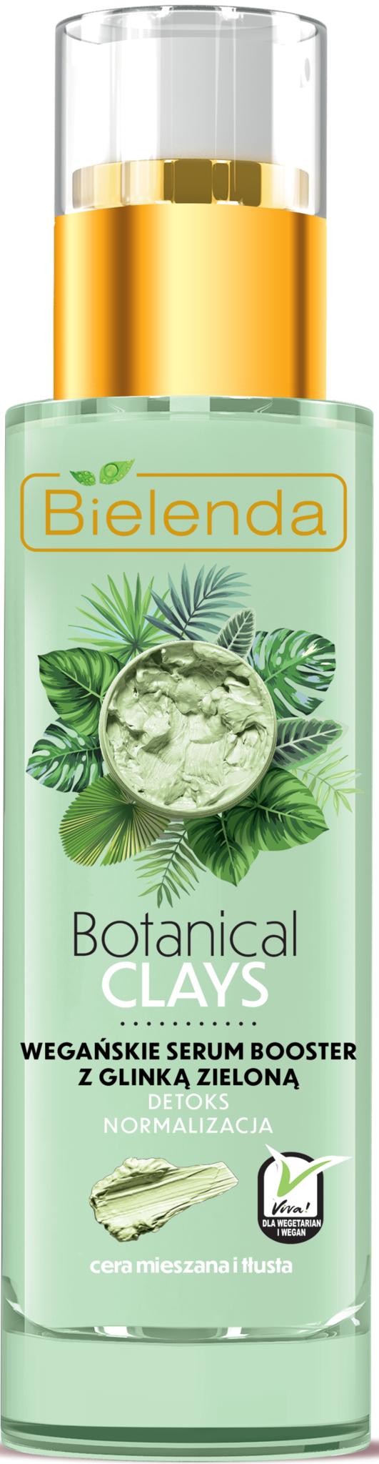 BOTANICAL CLAYS веганская сыворотка для лица с зелёной глиной 30 мл