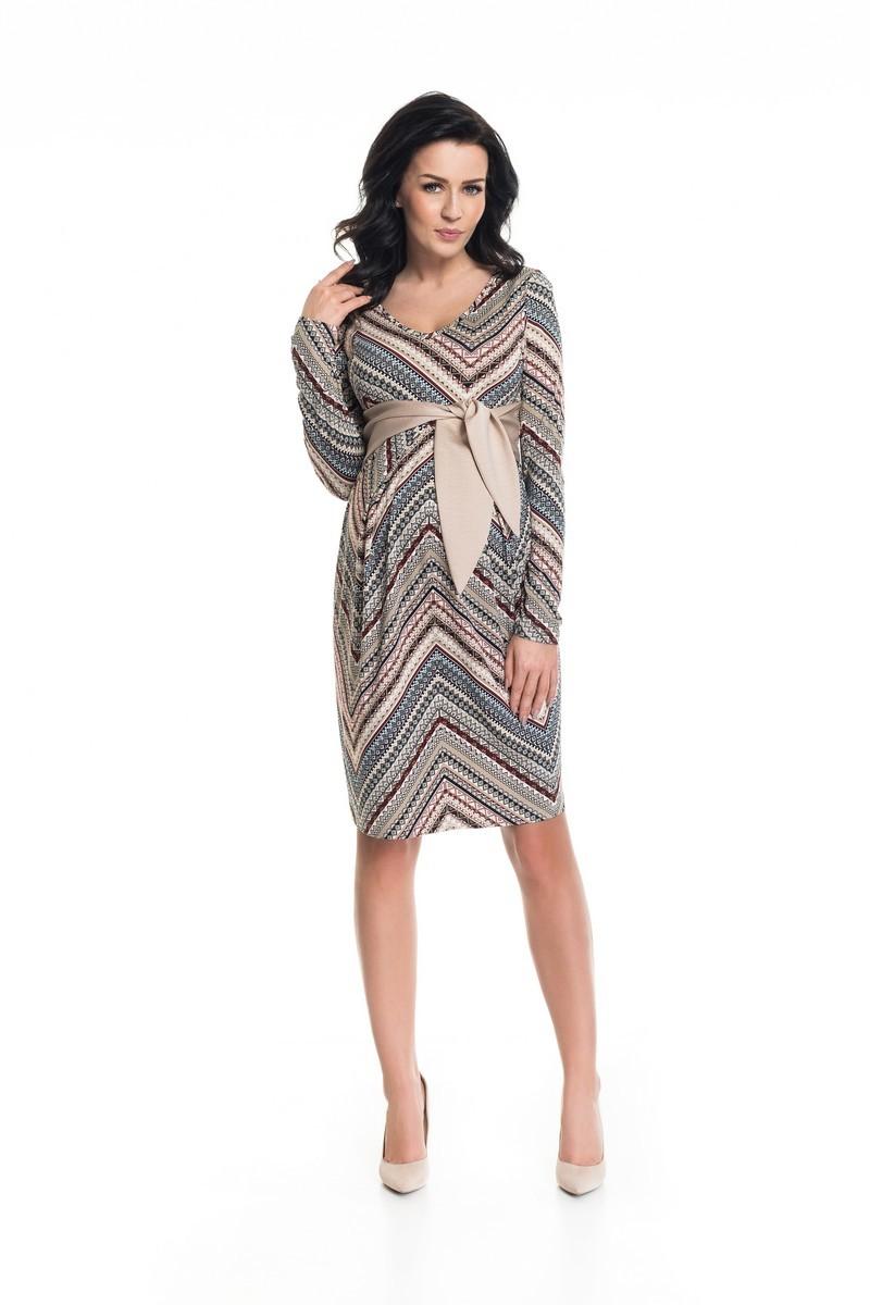 Фото платье для беременных 9Fashion от магазина СкороМама, цветной, узорный, размеры.