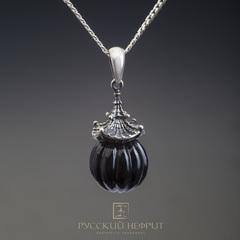 "Кулон ""Доугун"". Чёрный нефрит (класс модэ), серебро 925 (3,5г.)."