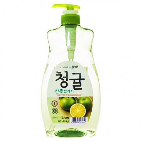 Средство для мытья посуды, овощей и фруктов Зеленый цитрус Lion Chamgreen 970 мл