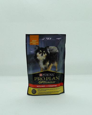 Pro Plan пауч для взрослых собак говядина 100г