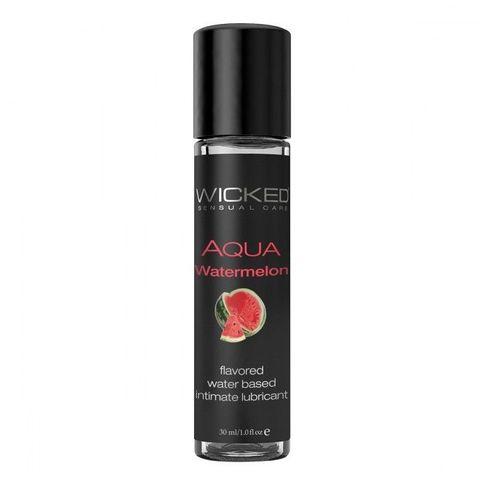 Лубрикант с ароматом арбуза WICKED AQUA Watermelon - 30 мл.