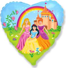 F Сердце Замок принцессы, 18''/46 см, 1 шт.