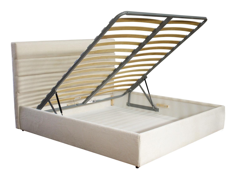 кровать Марсель, царги Люкс, ортопедическое основание с подъемным механизмом, ящик для белья