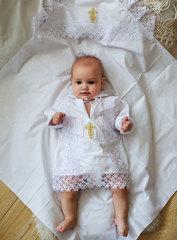 Папитто. Крестильный набор для мальчика (рубашка крестильная, пеленка) вид 1