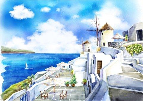 Алмазная Мозаика + Багет 40x50 Город на берегу
