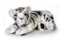Hansa Белый тигренок лежащий, 26 см (5337)