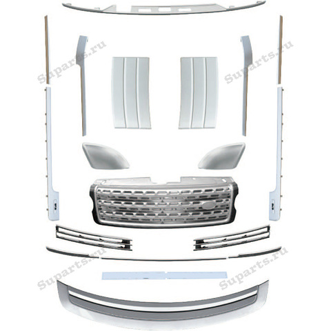 Комплект молдингов и решёток (серебро) Range Rover 2013-2017