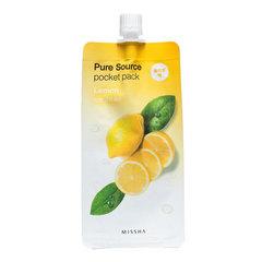 Missha Pure Source Pocket Pack Lemon - Компактная маска для лица с лимоном