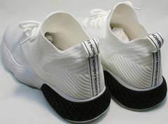 Удобные белые кроссовки с толстой подошвой женские El Passo KY-5 White.