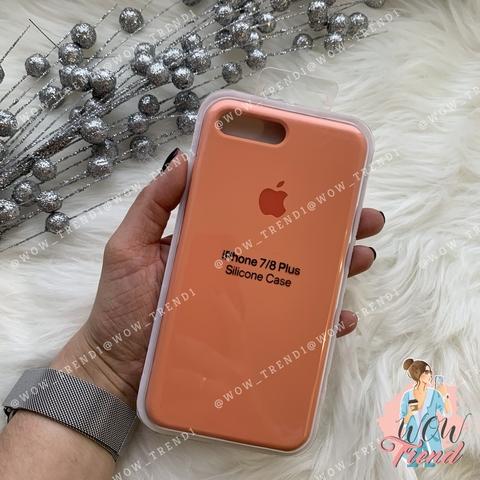 Чехол iPhone 7+/8+ Silicone Case /peach/ персик 1:1