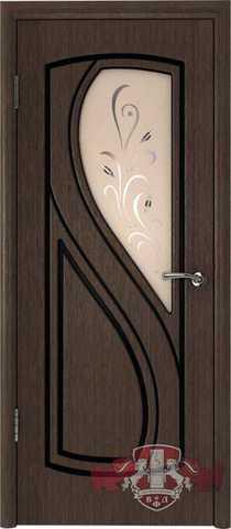 Дверь Владимирская фабрика дверей 10ДО4, цвет венге, остекленная