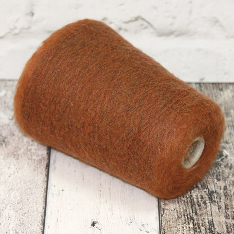 Кидмохер стрейч  1000 рыже-коричневый меланж