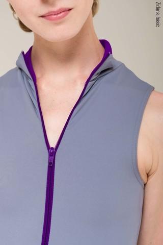Zip leotard basic | grey
