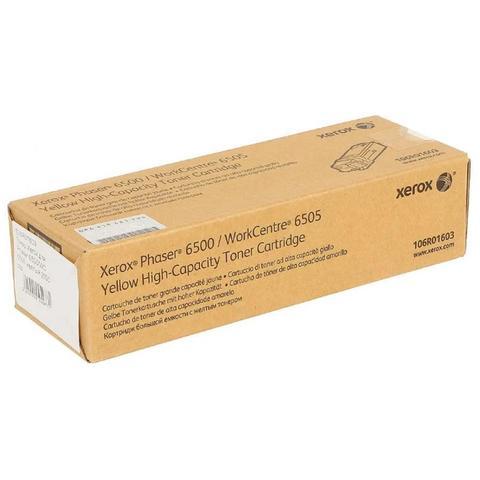 Оригинальный картридж Xerox 106R01603, желтый
