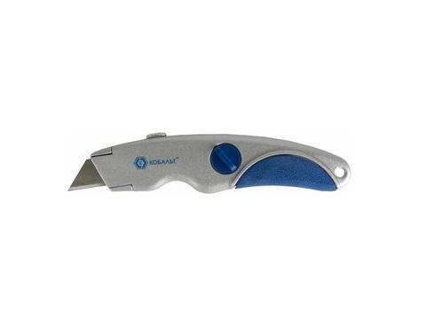 Нож технический КОБАЛЬТ трапециевидные лезвия 19 мм (3 шт.), металлический корпус, блистер (242-106)