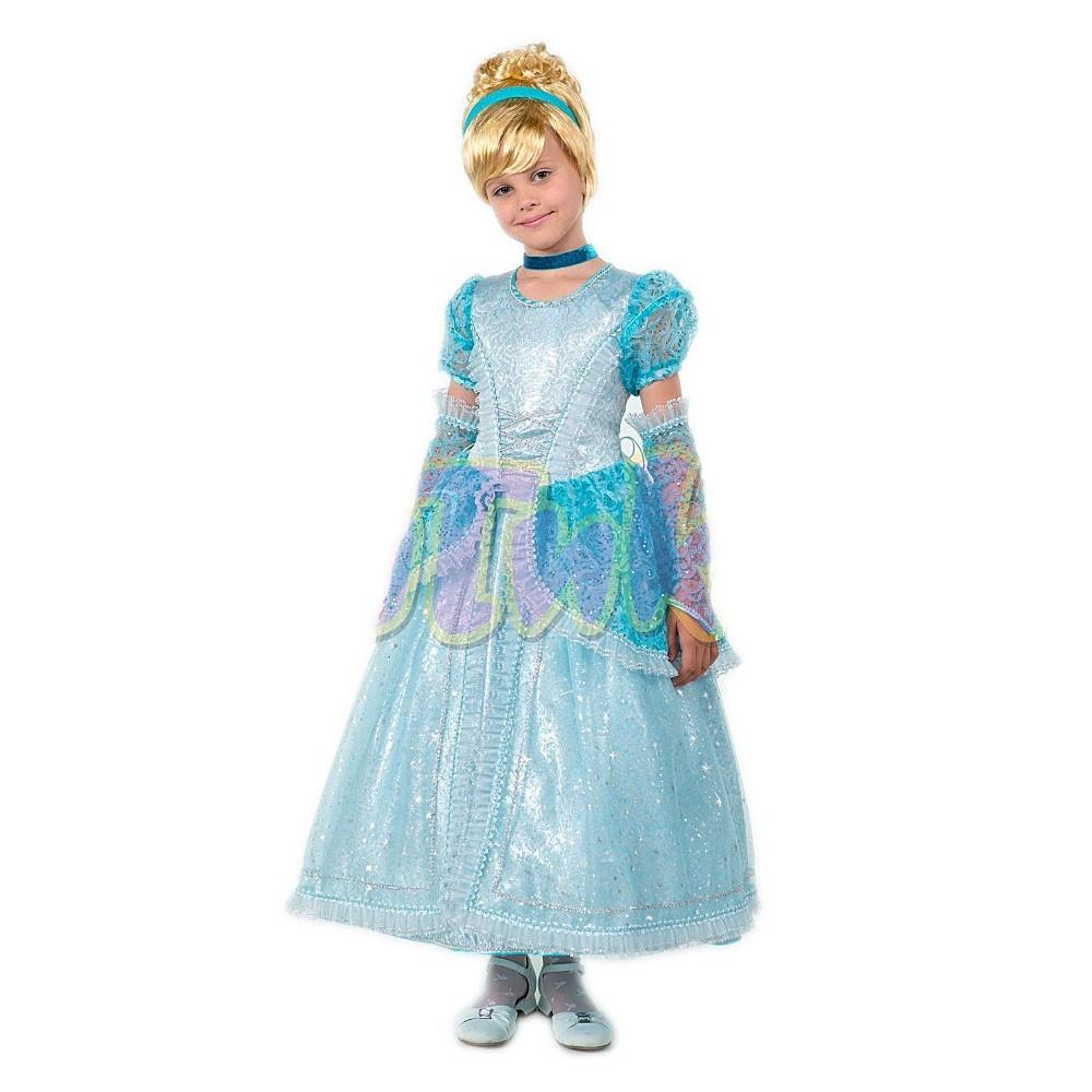 Карнавальный костюм Принцесса Золушка (атлас, органза)