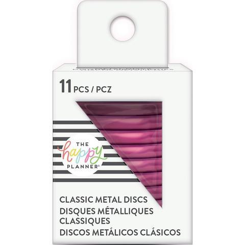Диски металлические - (крепежный механизм для ежедневников) Happy Planner Expander (Medium- Classic) - Hot Pink- 3.3 см