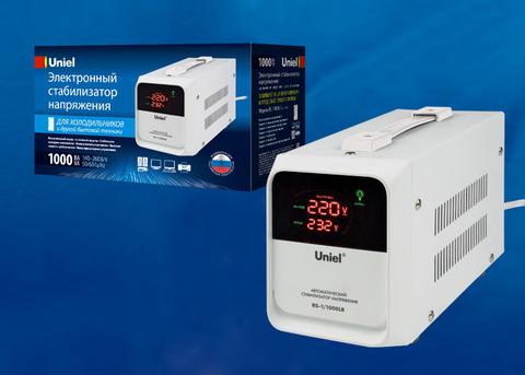 RS-1/1000LR Стабилизатор напряжения для холодильников. Однофазный релейный. 1000ВА. Напольный. TM Uniel.