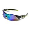 Очки солнцезащитные 2K S-14058-B  (чёрный глянец / зелёные revo + 2 доп. линзы)