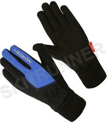 Теплые лыжные перчатки Nordski Arctic Black-Blue 2020