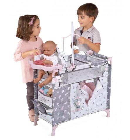 DeCuevas Манеж-игровой центр для куклы  с аксессуарами  серии Скай, 70 см (53035)
