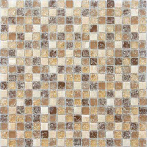 Мозаика стеклянная с камнем Amazonas 15x15x8 305х305