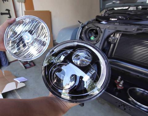 Установка светодиодных фар Jeep Wrangler