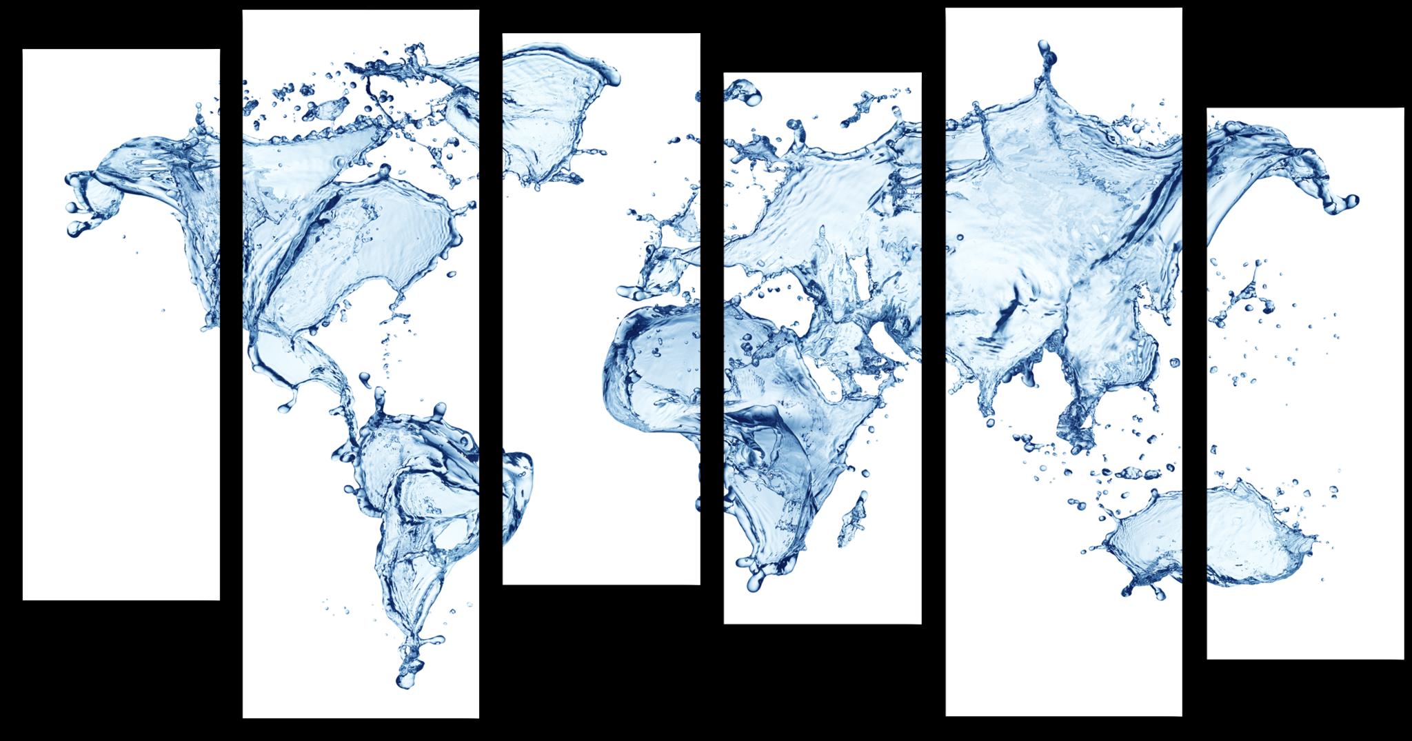 """Абстракция Модульная картина """"Водная карта мира"""" М386.png"""