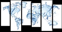 """Модульная картина """"Водная карта мира"""""""