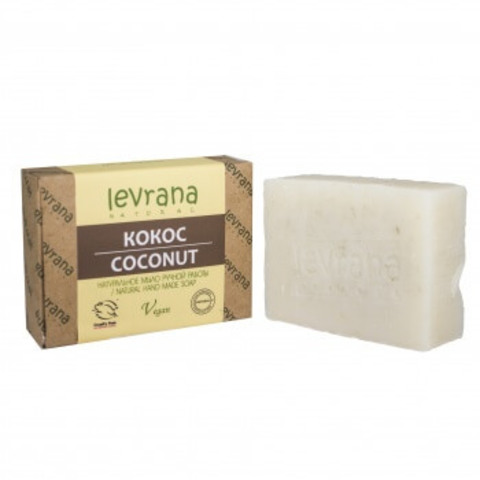 Levrana натуральное мыло, кокос 100г