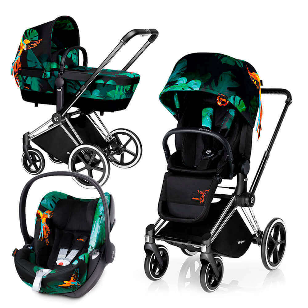 Цвета Cybex Priam 3 в 1 Детская коляска Cybex Priam Lux 3 в 1 Birds of Paradise шасси Chrome/Trekking cybex-priam-cloud-birds-of-paradise.jpg