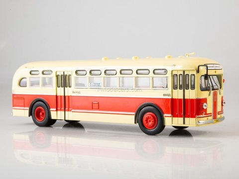 ZIS-154 yellow-red 1:43 Modimio Our Buses #5