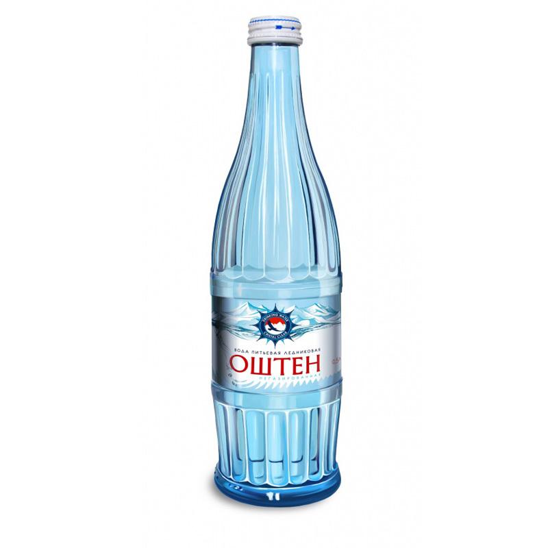 Вода Оштен питьевая негазированная стекло 0,5л.