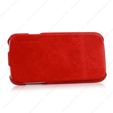 Чехол-флип Borofone для Samsung Galaxy S4 i9500/ i9505 - Borofone General Leather Case Red