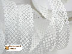 Лента-сеточка белая ширина 22 мм (уценка)
